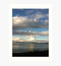 Cloud over Puget Sound, Washington Art Print