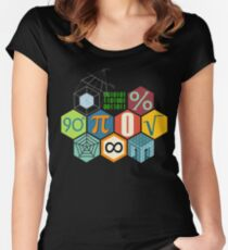 MATH! Women's Fitted Scoop T-Shirt