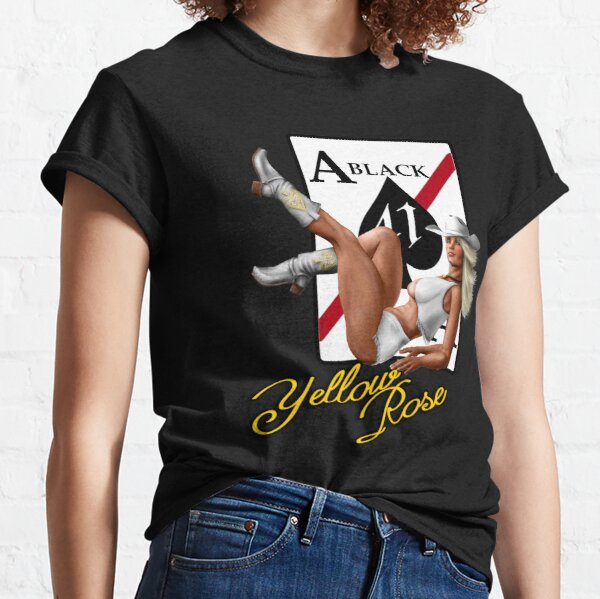 Yellow Rose - Aircraft Nose Art Pin-Up Girl Classic T-Shirt