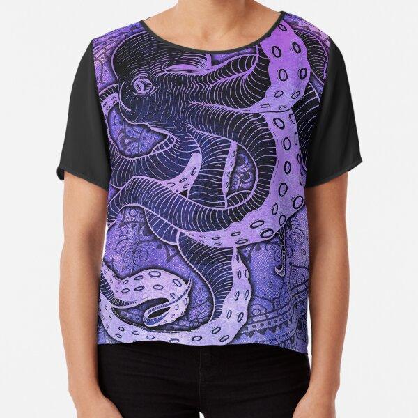 Octopus on Damask - Purple Edition Chiffon Top