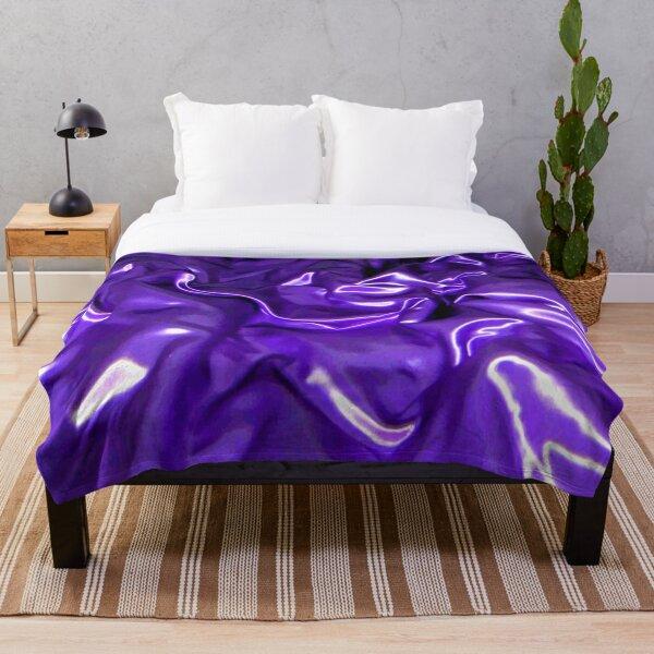 Ultra Violet Satin Material Throw Blanket