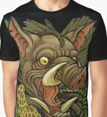 Wild Boar and Mushrooms Graphic T-Shirt