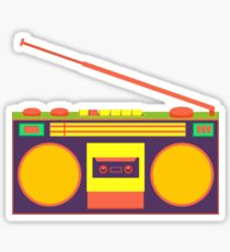 boombox - old cassette - Devices Sticker