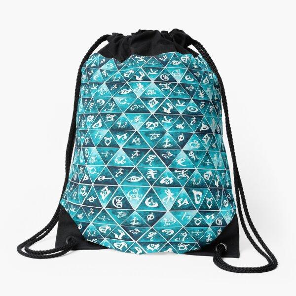 Shadowhunters Runes Mosaic Drawstring Bag