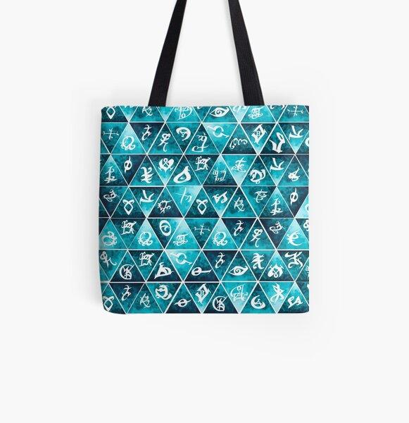 Shadowhunters Runes Mosaic All Over Print Tote Bag