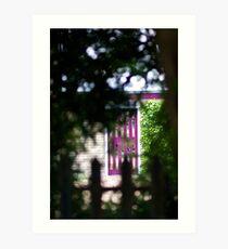 Purple Garden Door Art Print