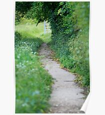 Footpath in England Poster
