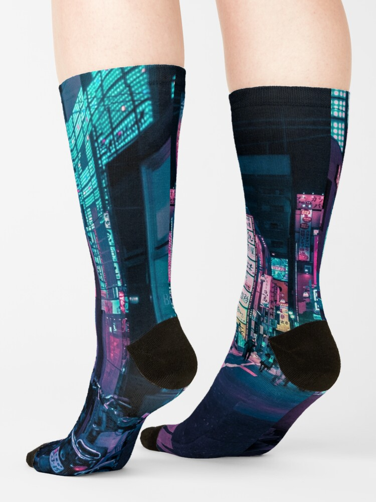 Alternate view of Tokyo - A Neon Wonderland  Socks