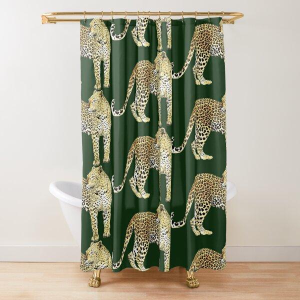 African Leopard dress Shower Curtain