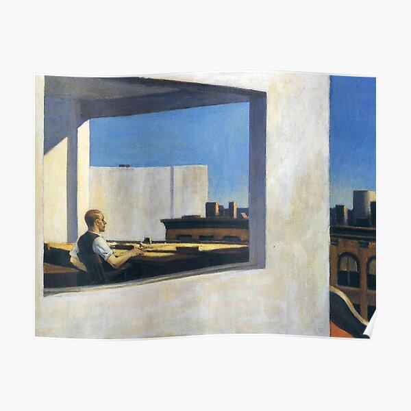 ARTISTA AMERICANO. Edward Hopper. Oficina en una ciudad pequeña. Póster
