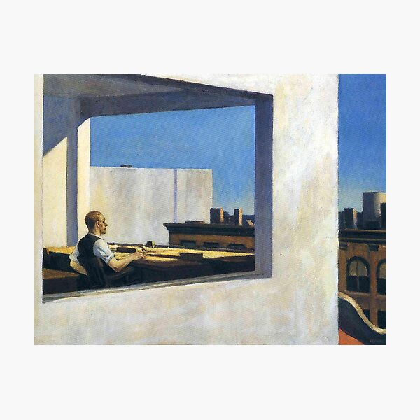 AMERICAN ARTIST. Edward Hopper. Office in a Small City. Photographic Print