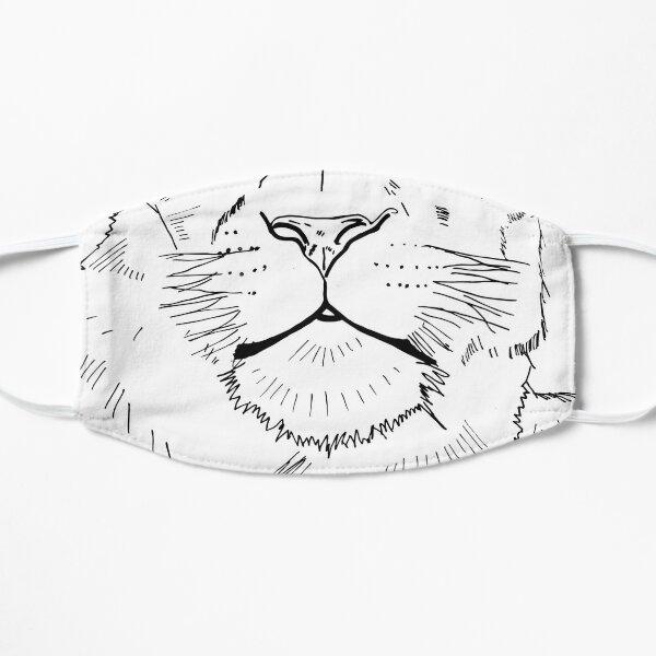 2019 01 10 line art portrait lioness  Flat Mask