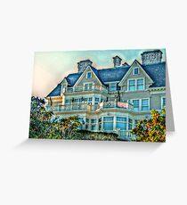 Balconies To Overlook The Ocean, Newport, Rhode Island Greeting Card