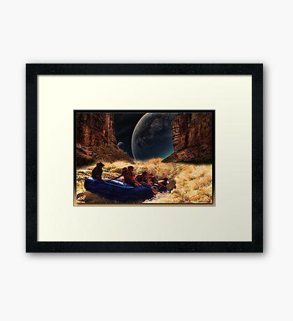 The River's End Framed Print