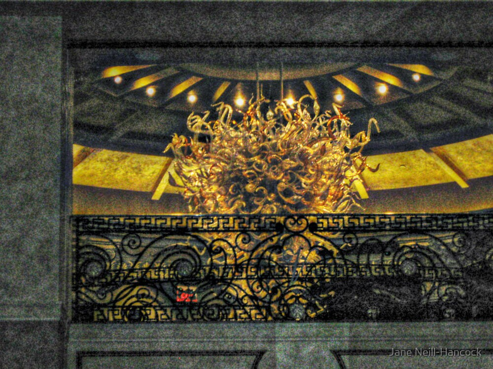 Looking Up At the Balcony over the Grand Hall, The Venetian, Garfield NJ by Jane Neill-Hancock