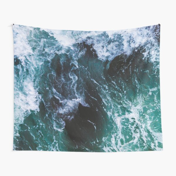 Blue Ocean Waves, Sea Photography, Seascape Tapestry