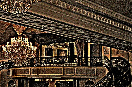 Balcony Above the Ballroom in Browns and Blacks, The Venetian, Garfield NJ by Jane Neill-Hancock