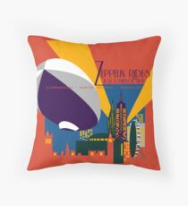 Zeppelin Rides are Just a Universe Away Throw Pillow