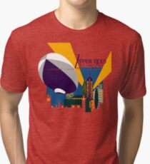 Zeppelin Rides are Just a Universe Away Tri-blend T-Shirt
