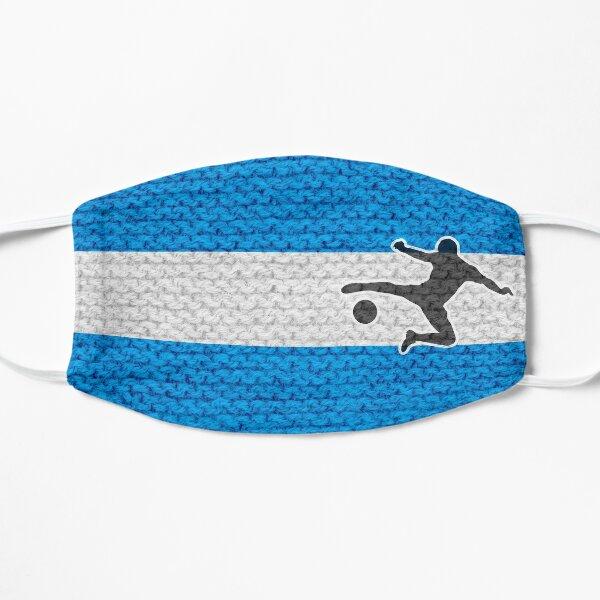 Fußballfan blau weiß Maske
