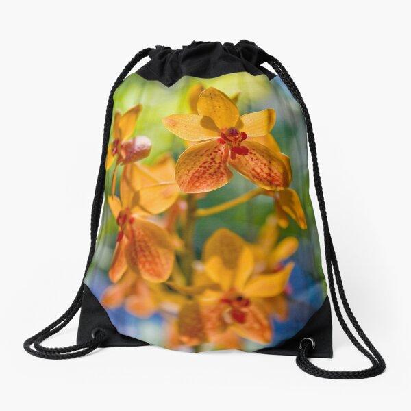 Orchidees flottantes  Drawstring Bag