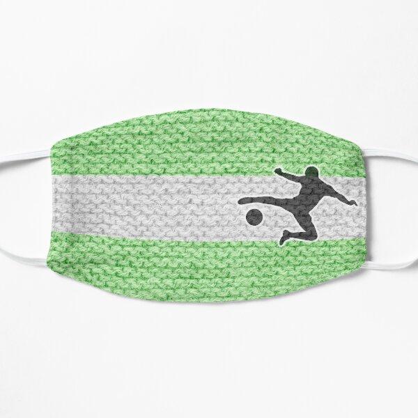 Fußballfan grün weiß Flache Maske