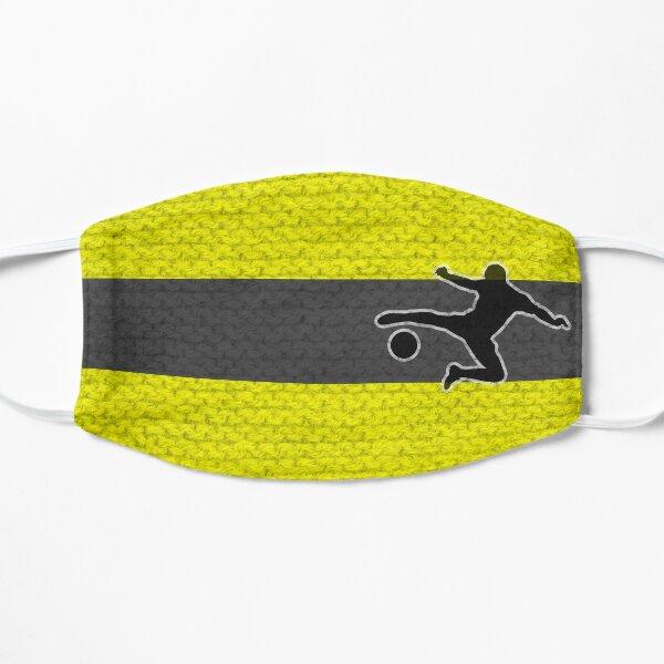 Fußballfan gelb schwarz Maske