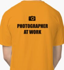 Photographer At Work - Light Classic T-Shirt