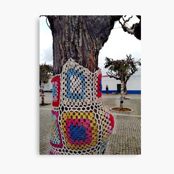 Decorated Crochet Treet- Portuguese Street Canvas Print