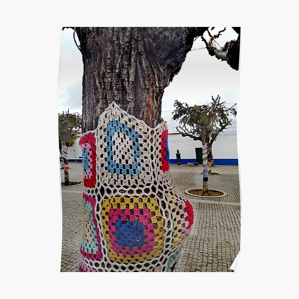 Decorated Crochet Treet- Portuguese Street Poster