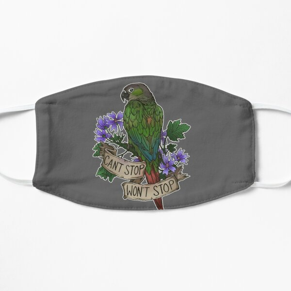 Can't Stop; Won't Stop (green-cheeked conure) Mask