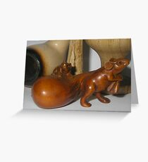 Mouse Pipe & Egg Cup Greeting Card