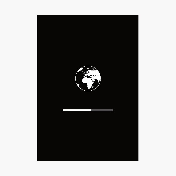 Please wait ... The World is restarting ... Mac Photographic Print