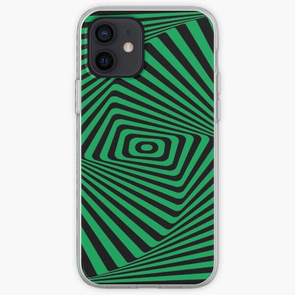 Op-Art Rad Rectangles in Green iPhone Soft Case