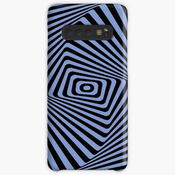 Op-Art Rad Rectangles in Blue Samsung Galaxy Snap Case