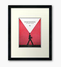A Monster in your Pocket (Red Version) Framed Print