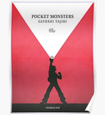 A Monster in your Pocket (Red Version) Poster