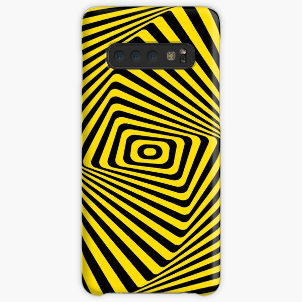 Op-Art Rad Rectangles in Gold Samsung Galaxy Snap Case