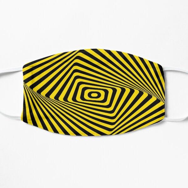 Op-Art Rad Rectangles in Gold Mask