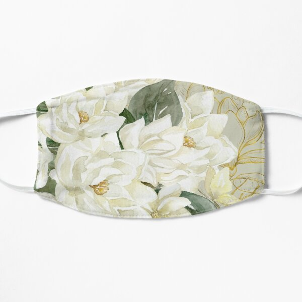 Elegant Magnolias – with a Touch of Gold Mask