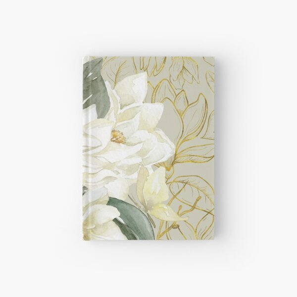 Elegant Magnolias – with a Touch of Gold Hardcover Journal