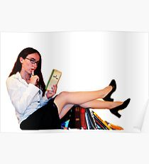 Geeky Pin-Up: Librarian  Poster