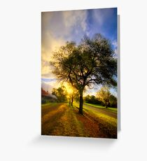 Country Golden Hour Greeting Card