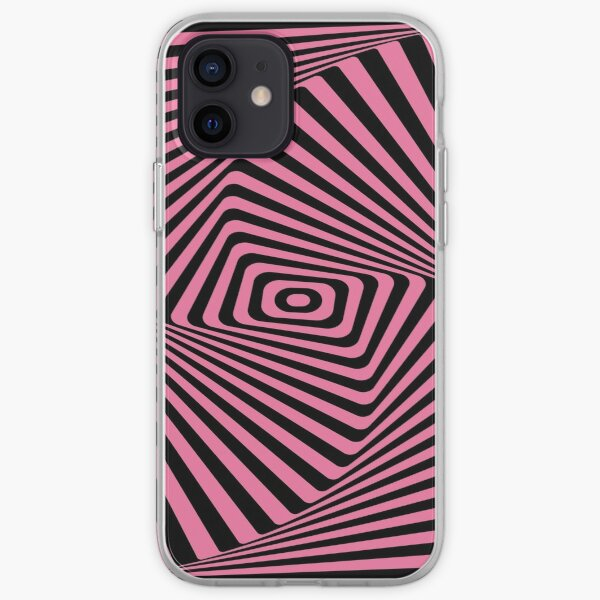 Op-Art Rad Rectangles in Pink iPhone Soft Case