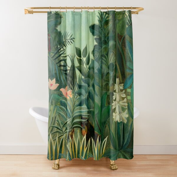 "Henri Rousseau ""The Equatorial Jungle"", 1909 Shower Curtain"