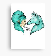 The Girl & The Wolf Canvas Print