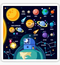 Space Universe Solar Big Bang Sticker