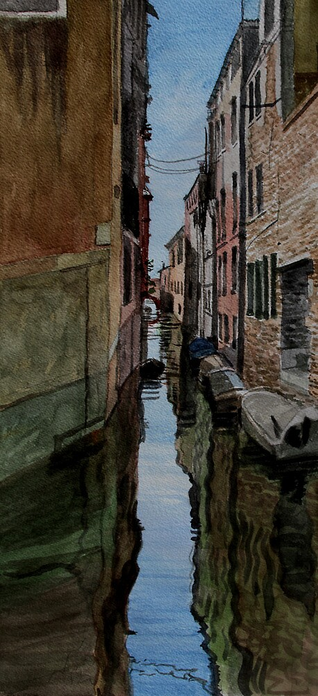Along the canal, Venice by Freda Surgenor