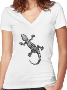 Gecko Women's Fitted V-Neck T-Shirt