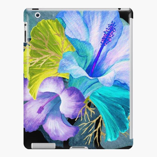 Flower Power – Blue Tropical iPad Snap Case